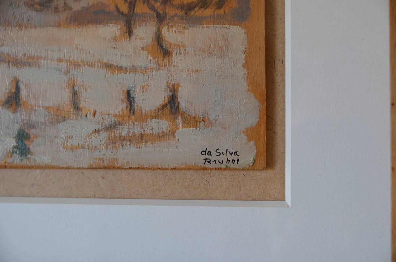 Rare Set of Two Framed Oil Paintings by Ivan da Silva Bruhns 9