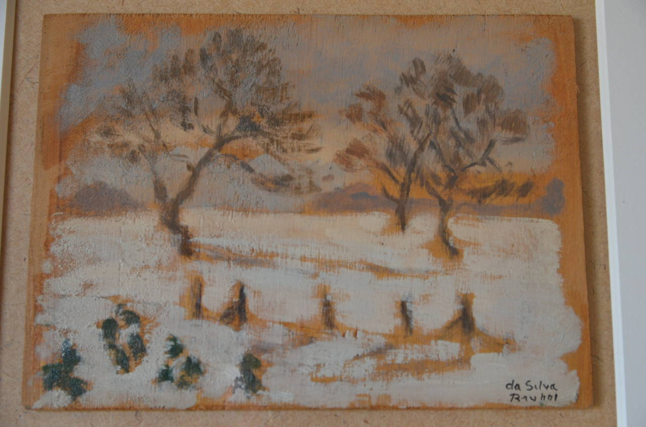 Rare Set of Two Framed Oil Paintings by Ivan da Silva Bruhns For Sale 1