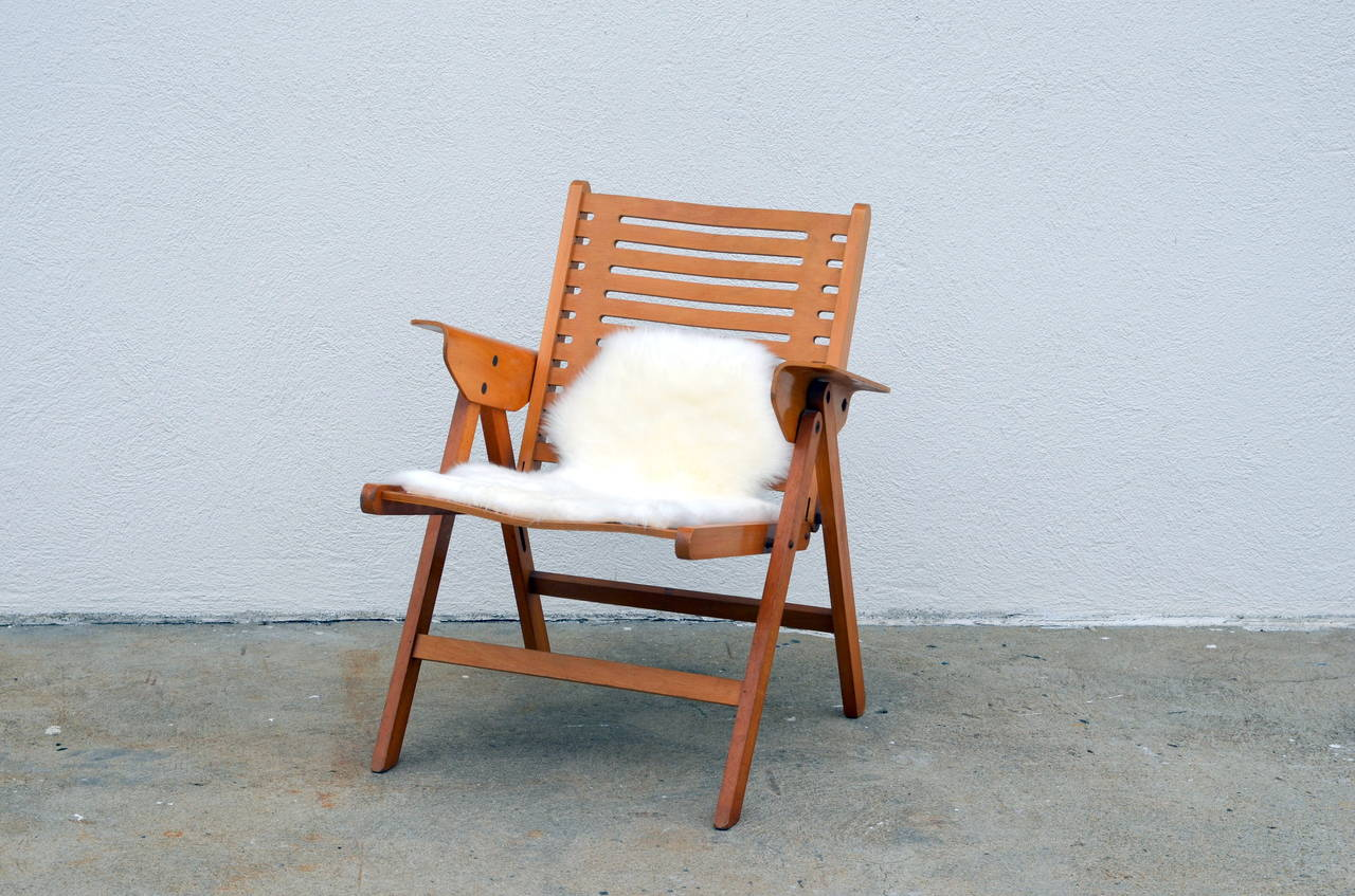 Tierras altas Privilegiado límite  Iconic Vintage Folding Rex Lounge Chair by Niko Kralj For Sale at 1stDibs