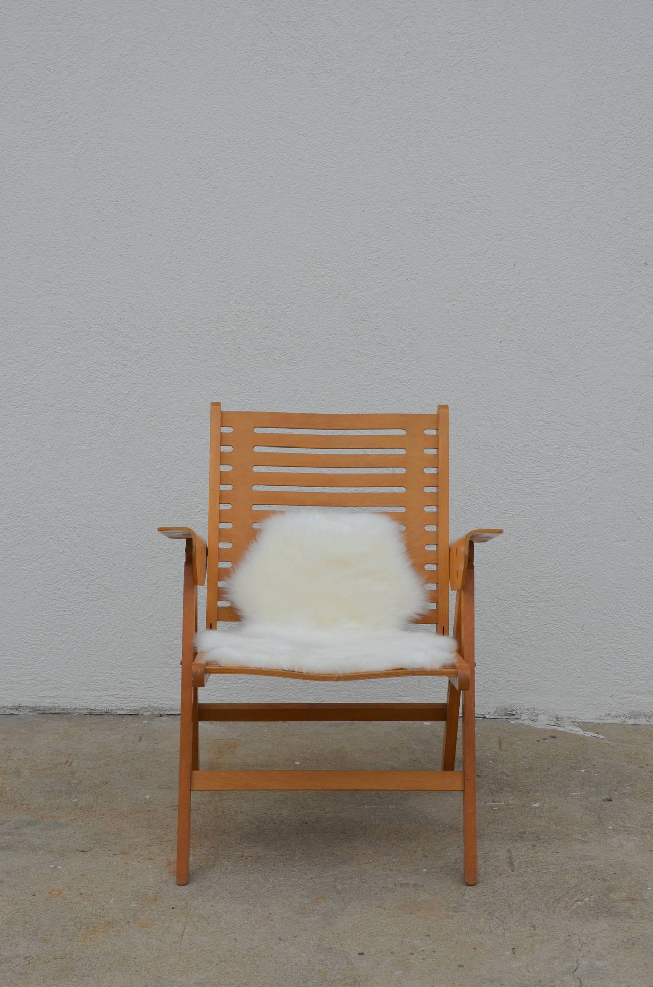 Iconic Vintage Folding Rex Lounge Chair by Niko Kralj For Sale at