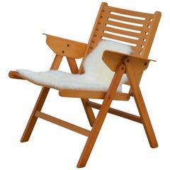 Iconic Vintage Folding Rex Lounge Chair by Niko Kralj