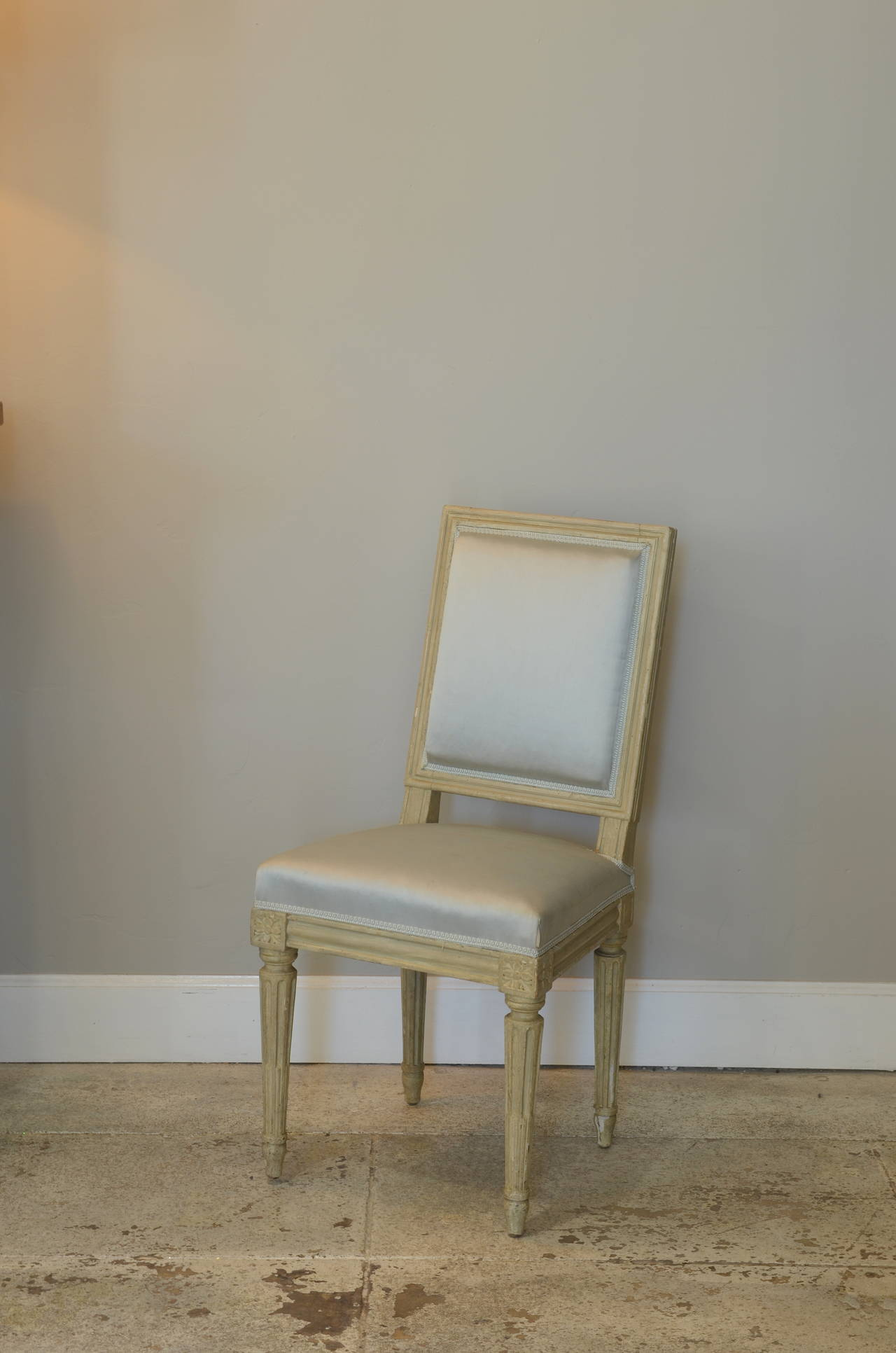 Art Deco Pair of Louis XVI Style Side Chairs by Armand-Albert Rateau For Sale