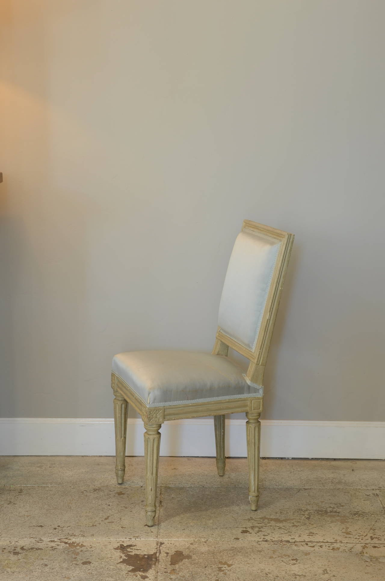 French Pair of Louis XVI Style Side Chairs by Armand-Albert Rateau For Sale
