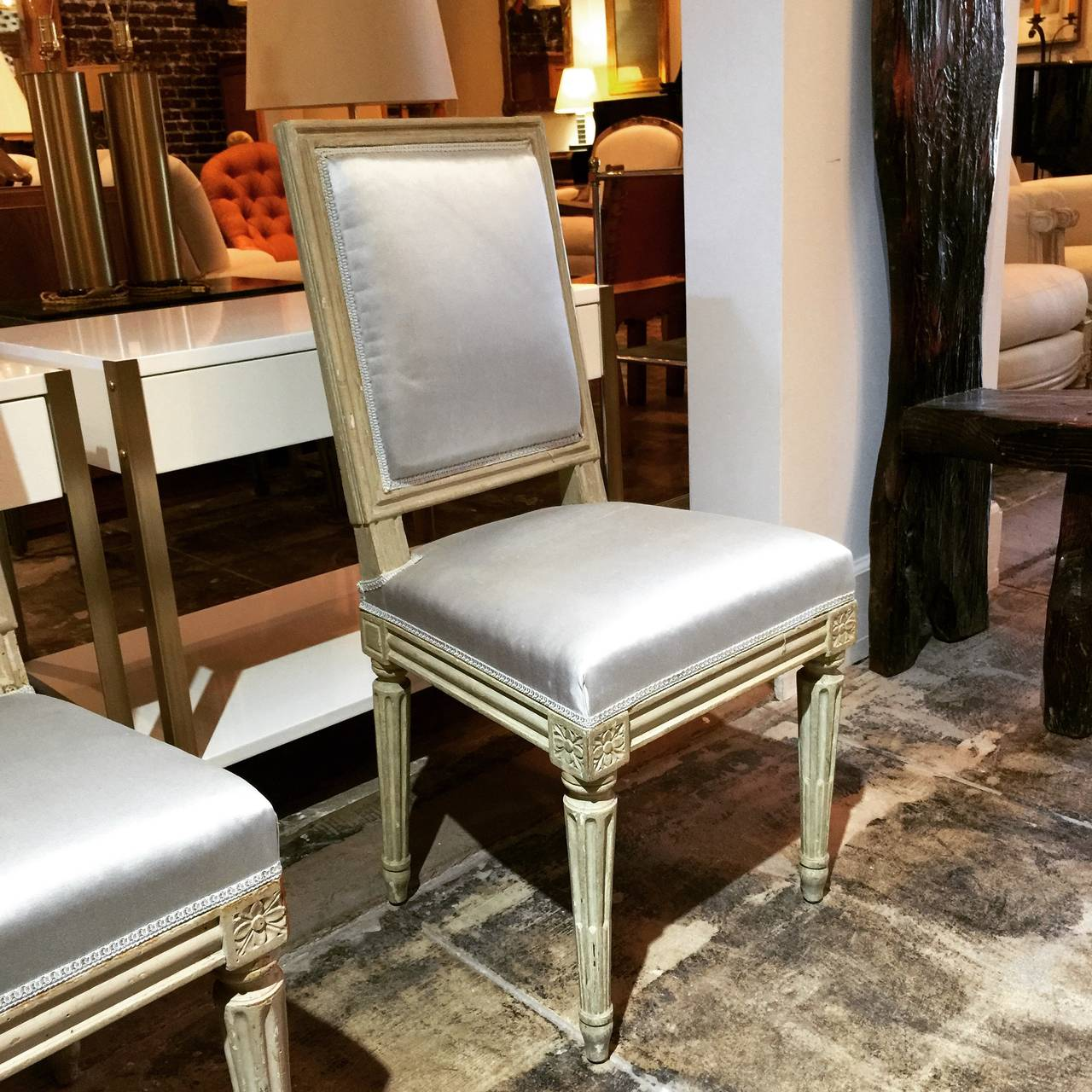 Pair of Louis XVI Style Side Chairs by Armand-Albert Rateau For Sale 1