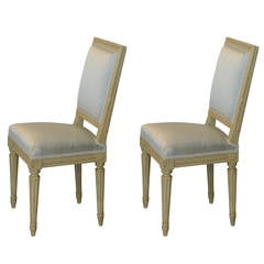 Pair of Louis XVI Style Side Chairs by Armand-Albert Rateau