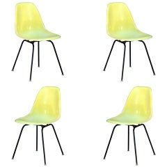 Set of 4 Vintage Eames Chairs by Herman Miller