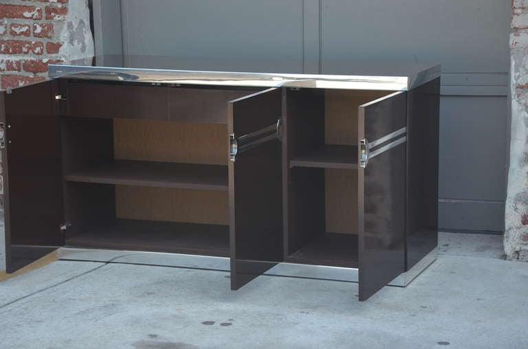 Black Midcentury Sideboard
