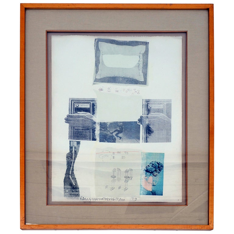 """""""Two Reasons Birds Sing"""" by Robert Rauschenberg For Sale"""