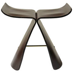 Iconic Rosewood Butterfly Stool by Sori Yanagi