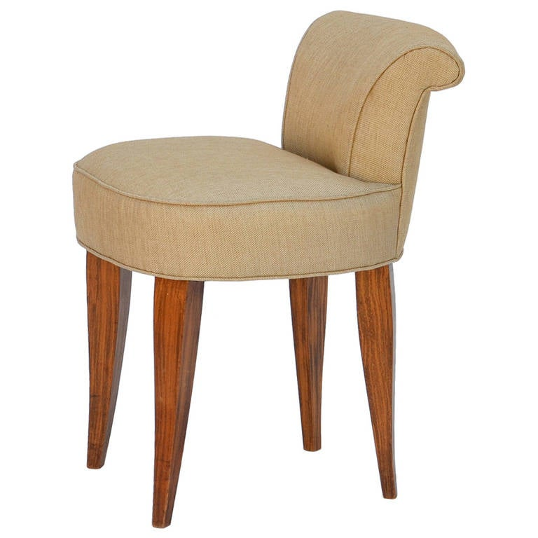 Elegant french art deco vanity stool in the style of andre arbus at 1stdibs - Elegant vanity stools ...