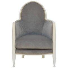 Unique French Art Deco Orientalist Style Bergere Armchair