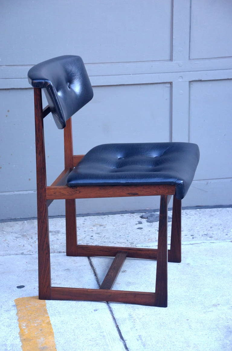 Set of 6 comfortable brazilian rosewood chairs for sale at for Comfy chairs for sale