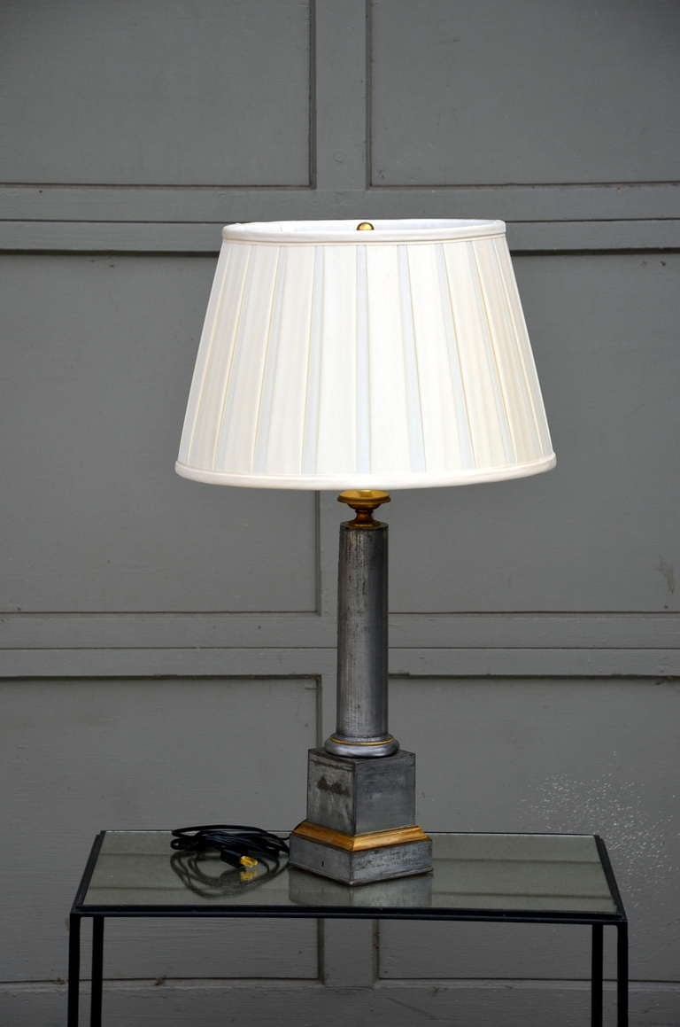 Pair Of Exceptional French 19th Century Column Lamps With