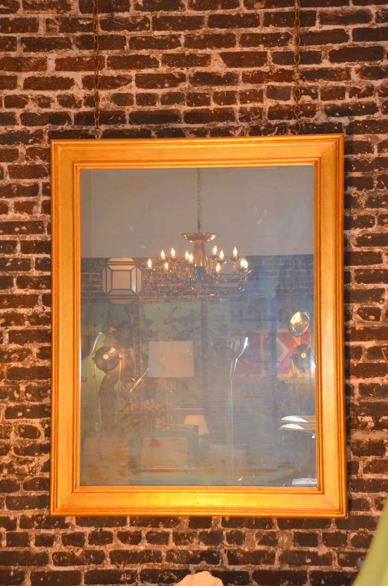 Large french gilt wood mantel mirror at 1stdibs for Mantel mirrors