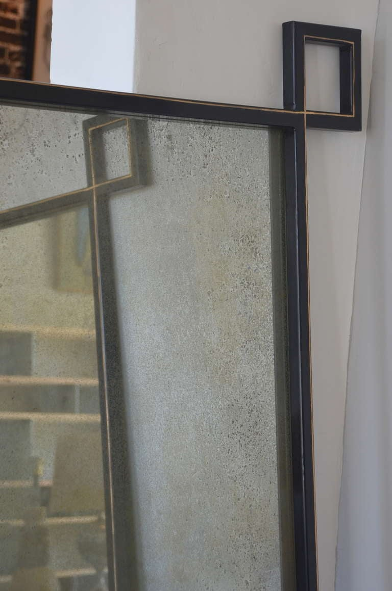 Pair of oversized 39 oxyde 39 french industrial mirrors by for Floor length mirror for sale