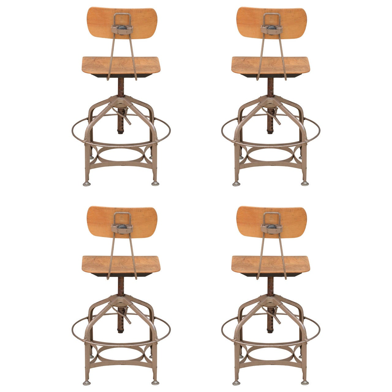 Rare set of 4 Vintage Adjustable Swiveling Toledo Bar  : 3093582l from www.1stdibs.com size 1280 x 1280 jpeg 102kB
