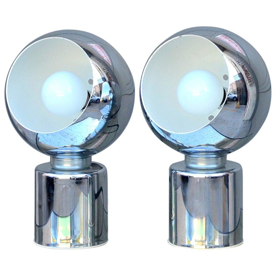 Pair of Articulated Globe Spotlights by Reggiani Lampadari