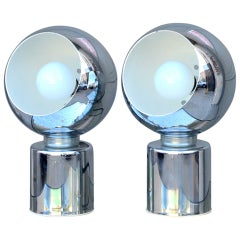 Pair of Articulated Globe Spotlights by Reggiani Lampadari