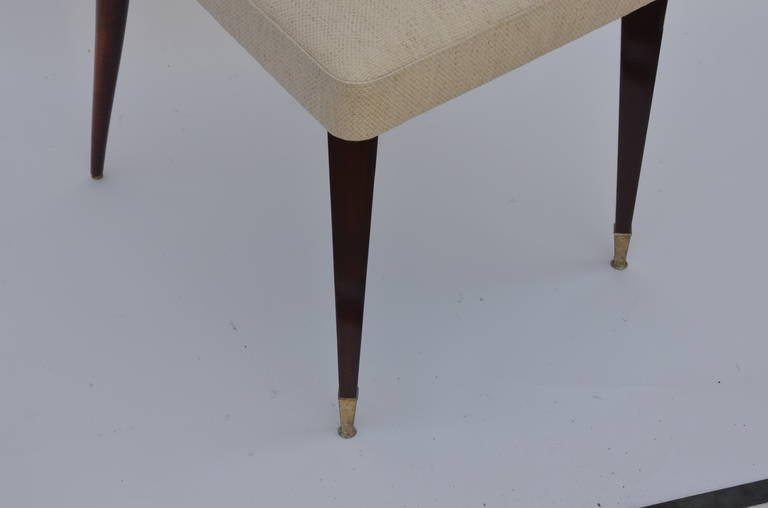 Set of Six Exceptional Mid-Century Italian Dining Chairs For Sale 3