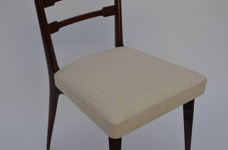 Set of Six Exceptional Mid-Century Italian Dining Chairs For Sale 2