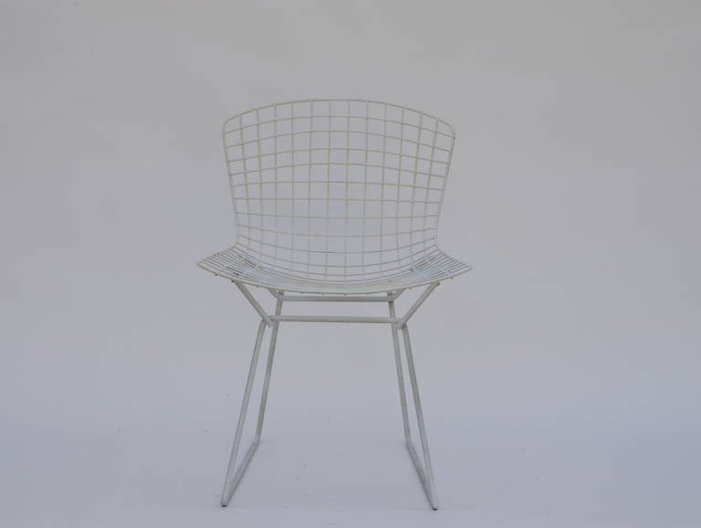American Set of Four Original Wire Chairs by Harry Bertoia for Knoll For Sale