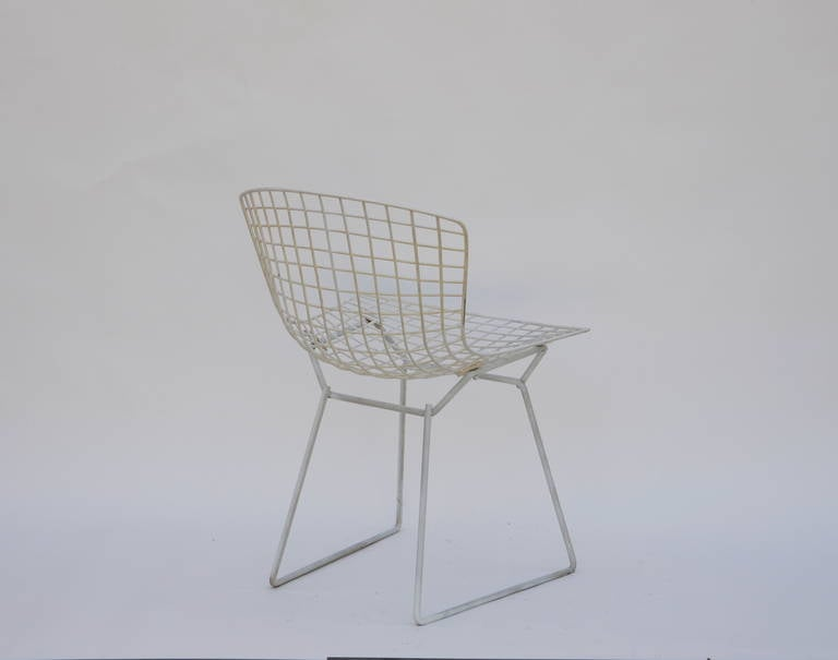 Mid-20th Century Set of Four Original Wire Chairs by Harry Bertoia for Knoll For Sale