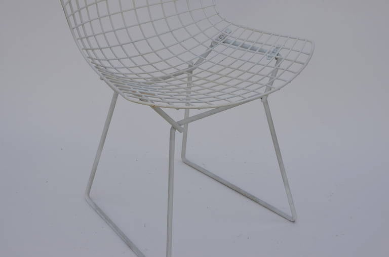 Set of Four Original Wire Chairs by Harry Bertoia for Knoll For Sale 1