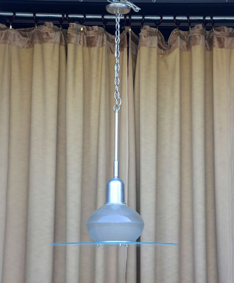 Pair Of French Art Deco Hanging Lights For Sale At 1stdibs