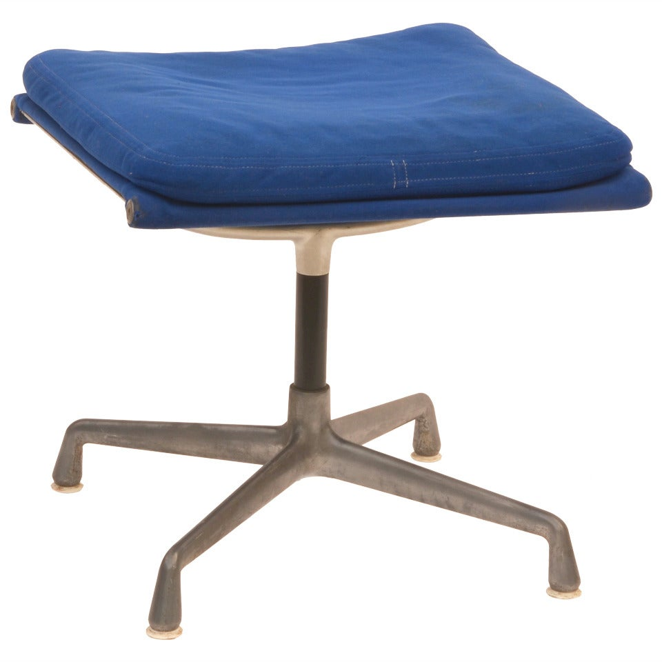 Vintage Aluminum Group Ottoman / Stool by Eames for Herman Miller