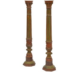 Pair of Impressive French 19th Century Napoleon III Torchere Columns