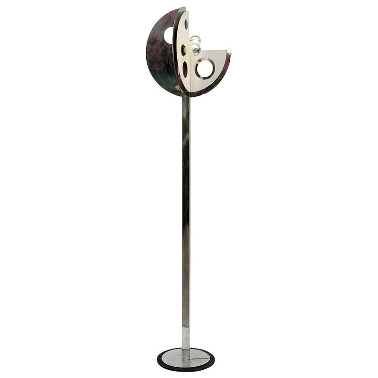 Unusual 1970s Floor Lamp in the Style of Yonel Lebovici For Sale