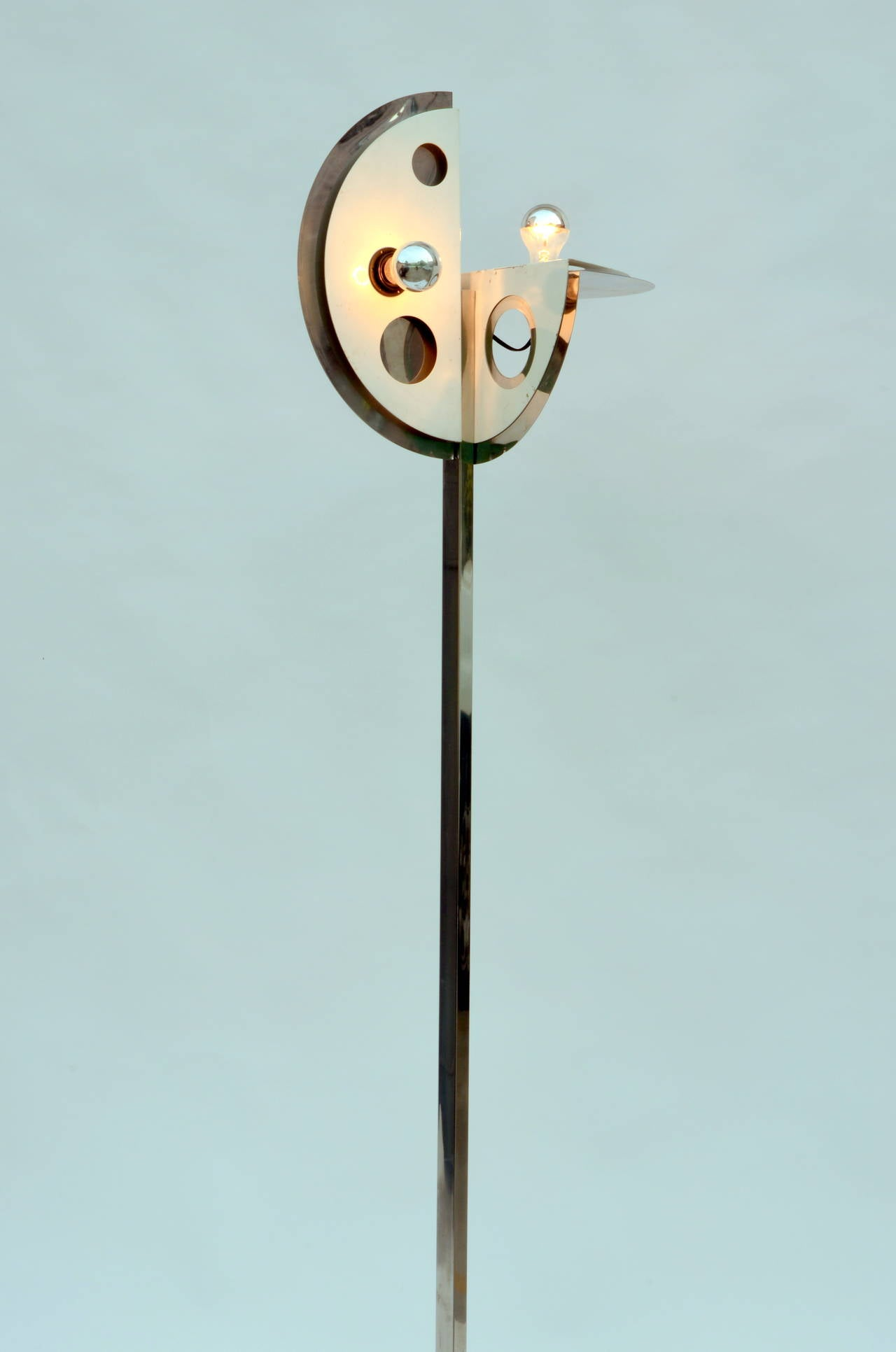 Unusual 1970s Floor Lamp In The Style Of Yonel Lebovici