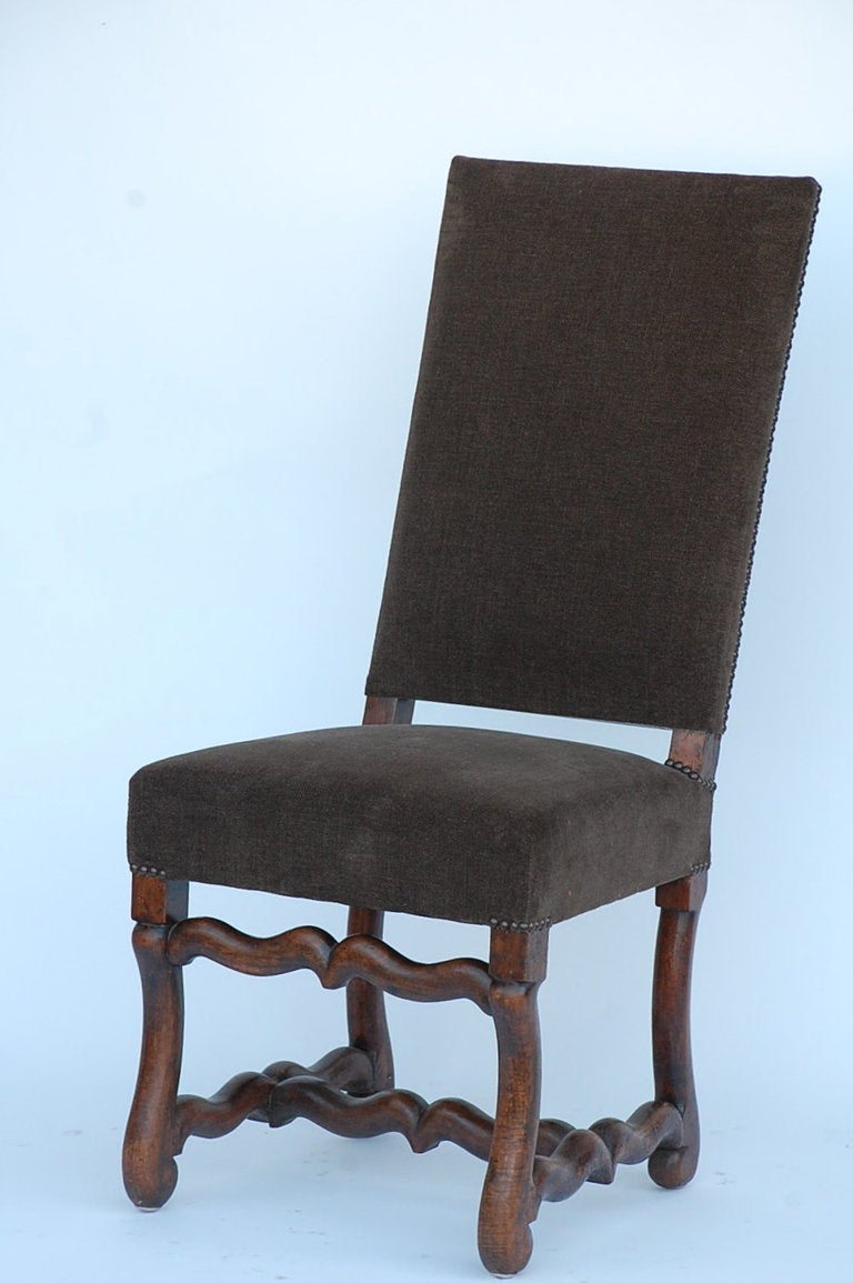 Pair Of Classic Louis XIII Style French Dining Chairs For Sale At 1stdibs