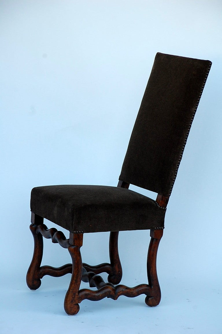 Pair Of Classic Louis Xiii Style French Dining Chairs For