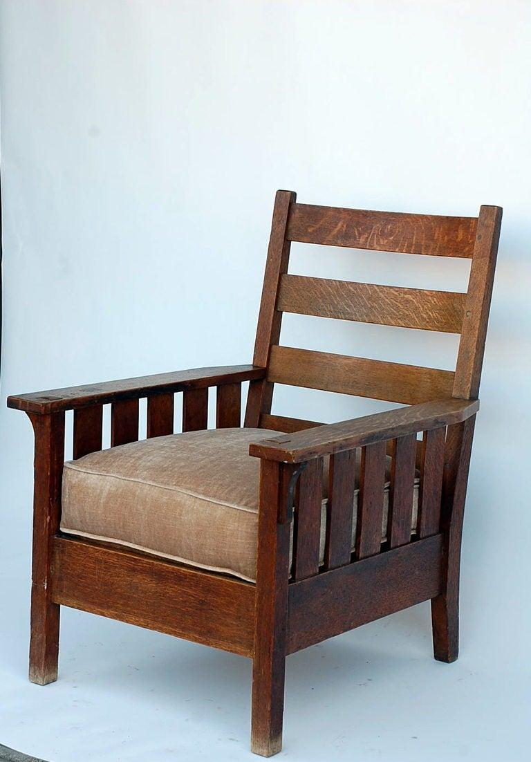 Original Gustav Stickley 324 Armchair At 1stdibs