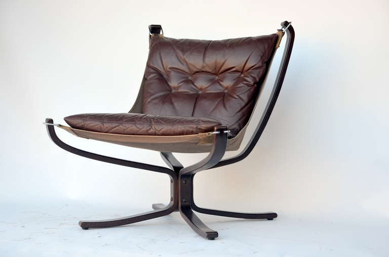 Small Rosewood and Leather Chair by Sigurd Resell.