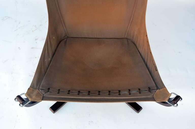 Small Rosewood and Leather Chair by Sigurd Resell In Good Condition In Los Angeles, CA