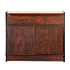 Small Rosewood Freestanding or Wall-Mounted Cabinet by John Nyquist