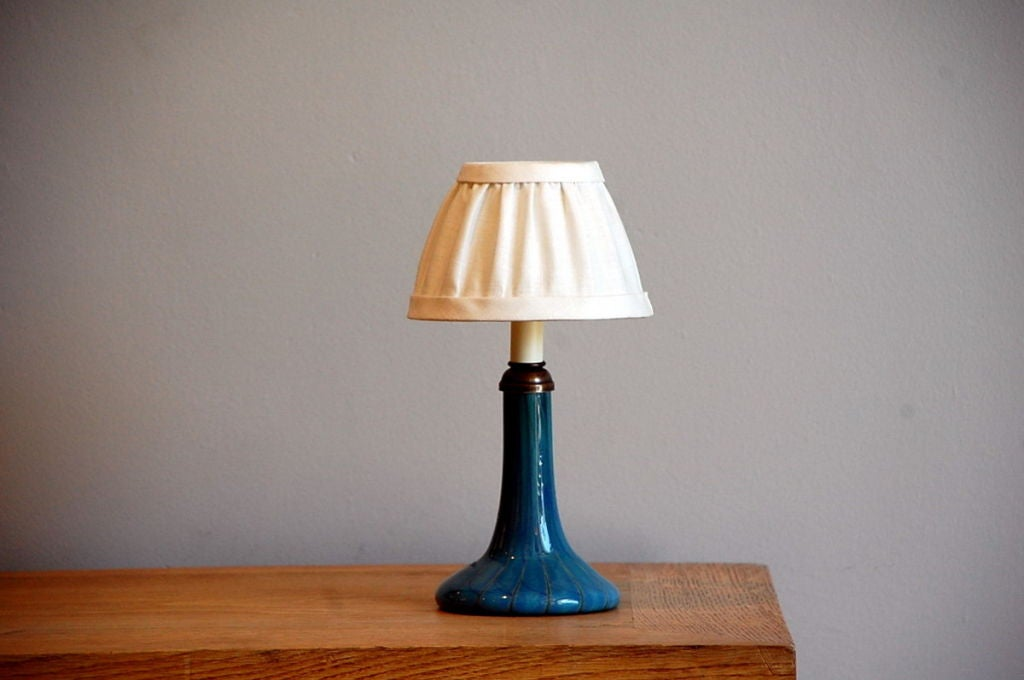 this small art nouveau blue glass table lamp is no longer available. Black Bedroom Furniture Sets. Home Design Ideas