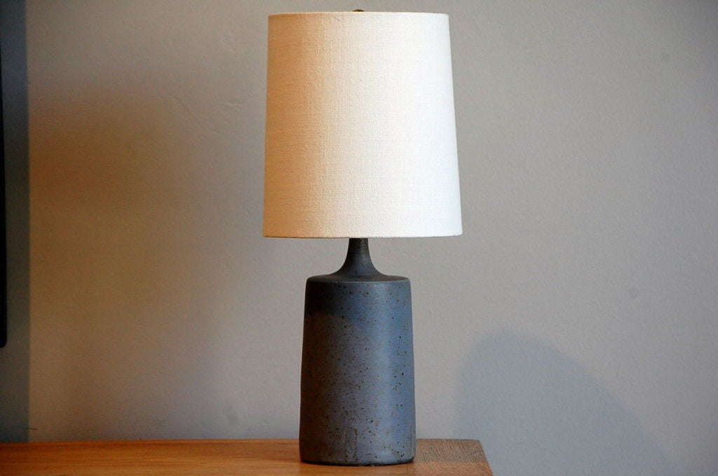 this ceramic studio art lamp with white linen shade is no longer. Black Bedroom Furniture Sets. Home Design Ideas