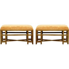 Pair of Architectural Ottomans / Benches