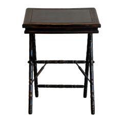 Small ebonized writing table / book display