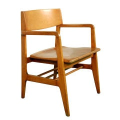 Sculptural Maple Mid-Century Desk Chair