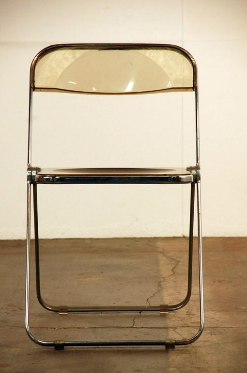 Modern Set of Five Plia Chairs by Giancarlo Piretti for Castelli For Sale