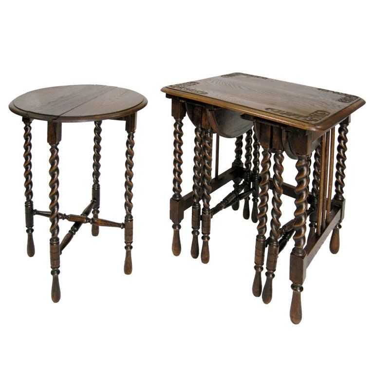 unique set of nesting tables  gmd 2632  at 1stdibs