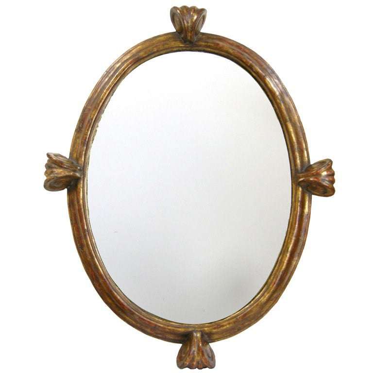 Baroque style oval mirror gmd 2772 at 1stdibs for Baroque oval mirror