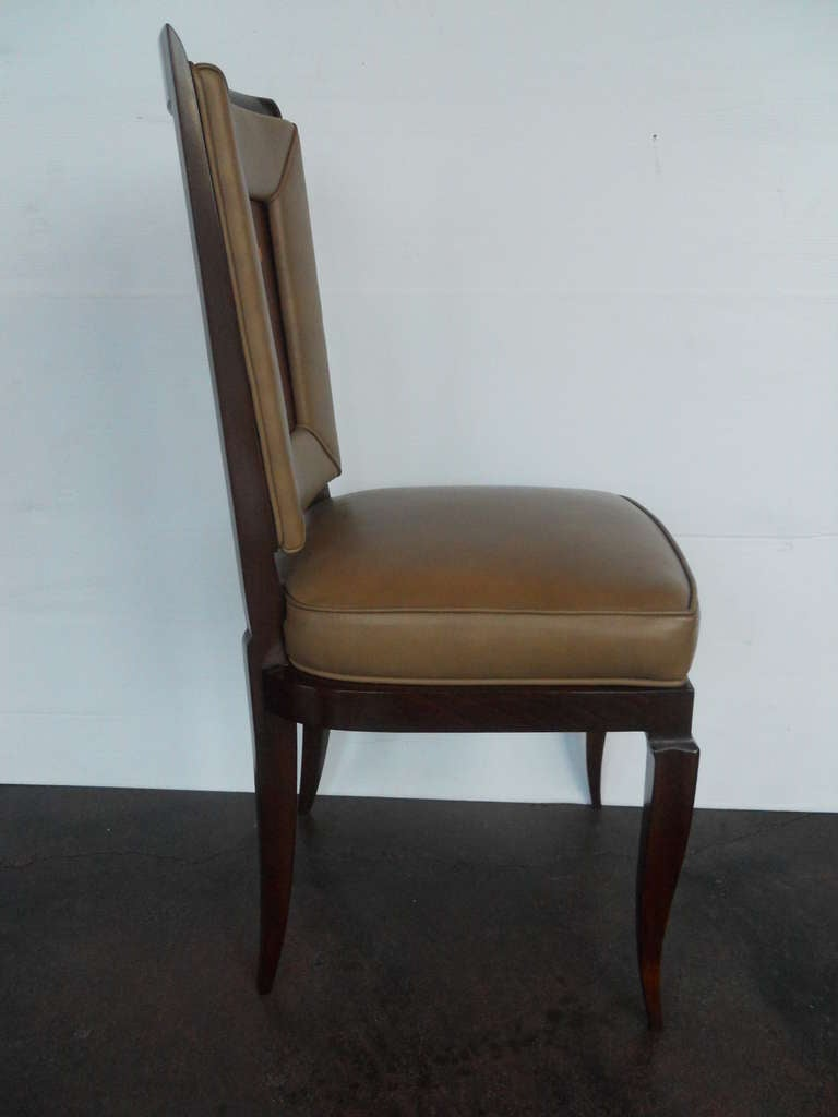 Art Deco Exceptional Set of 6 Chairs in the Style of Gio Ponti For Sale