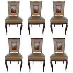 Exceptional Set of 6 Chairs in the Style of Gio Ponti