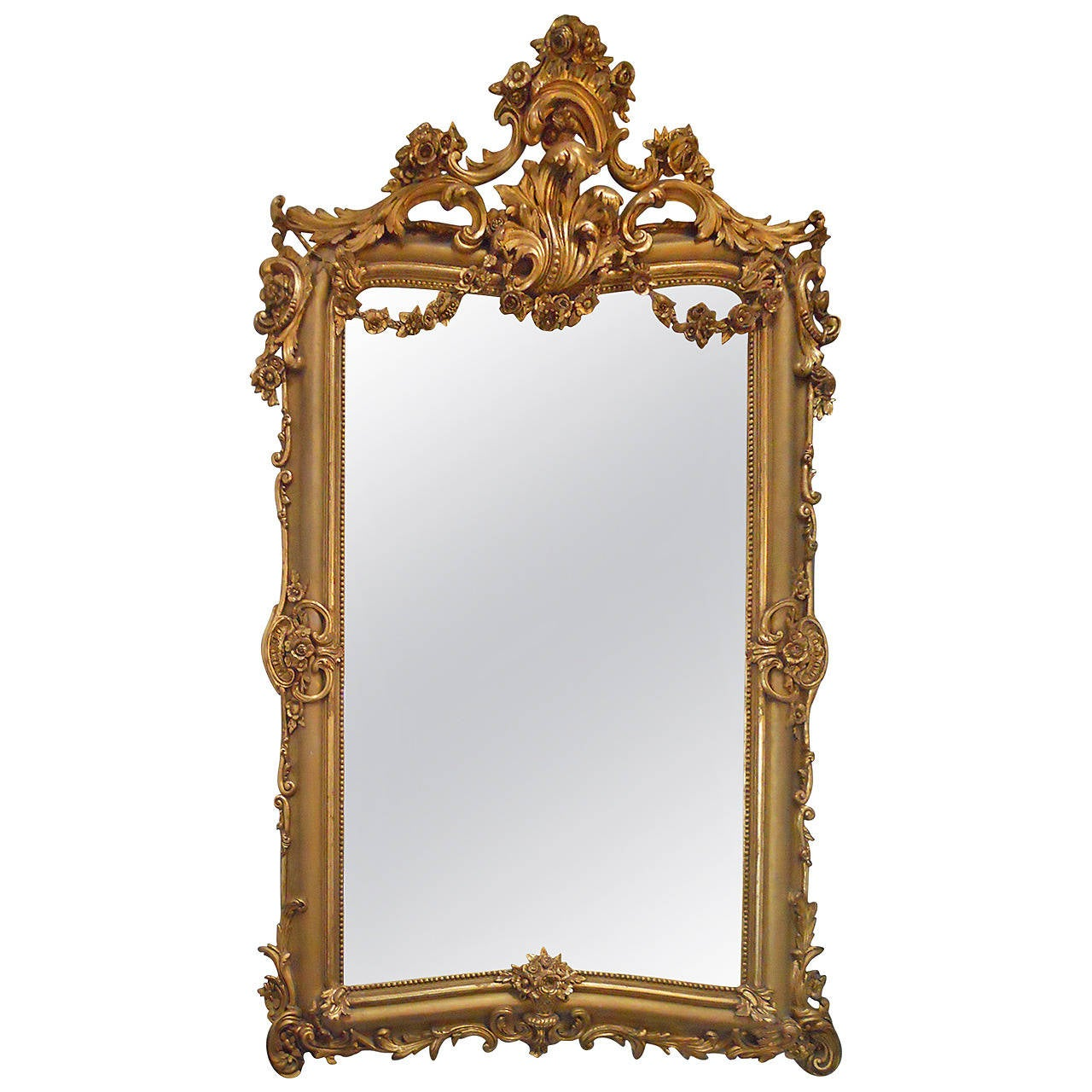 Grand french gilt mirror at 1stdibs for Mirror o mirror