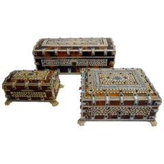 Three Anglo-Indian, Mid-20th Century Boxes